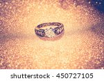 diamond ring of black gold on... | Shutterstock . vector #450727105