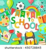 modern flat icons vector...   Shutterstock .eps vector #450728845