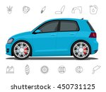car and car parts icons ... | Shutterstock .eps vector #450731125