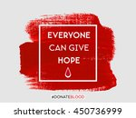 everyone can give hope text... | Shutterstock .eps vector #450736999
