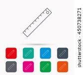 ruler icon. straightedge sign....   Shutterstock .eps vector #450738271