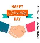happy friendship day background ...   Shutterstock .eps vector #450742651