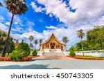 landmark of luang prabang city... | Shutterstock . vector #450743305