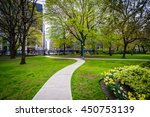 walkway and gardens outside... | Shutterstock . vector #450753139