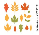 cute vector set with yellow... | Shutterstock .eps vector #450753271
