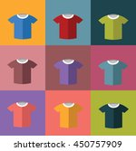 set of color t shirts | Shutterstock .eps vector #450757909