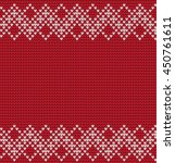 vector seamless knitted... | Shutterstock .eps vector #450761611