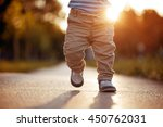 baby's first steps.the first... | Shutterstock . vector #450762031
