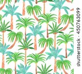 watercolor palm illustration... | Shutterstock . vector #450763099