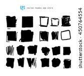 scribble vector forms set... | Shutterstock .eps vector #450764554