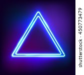 neon abstract triangle. glowing ... | Shutterstock .eps vector #450773479