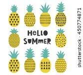 pineapple card design. vector... | Shutterstock .eps vector #450774871