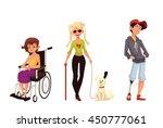 group of disabled children ...   Shutterstock .eps vector #450777061