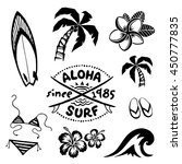 tropical surfing and relax... | Shutterstock . vector #450777835