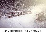 Winter Landscape. Bridge...