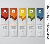 design clean number banners... | Shutterstock .eps vector #450788284