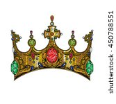 vector color vintage crown... | Shutterstock .eps vector #450788551
