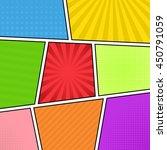 comic strip background.... | Shutterstock .eps vector #450791059