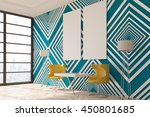 modern interior with striped... | Shutterstock . vector #450801685
