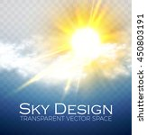shining sun and cloud.... | Shutterstock .eps vector #450803191