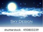 night sky. transparent design....   Shutterstock .eps vector #450803239