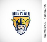 gods power vector sport team or ... | Shutterstock .eps vector #450806395