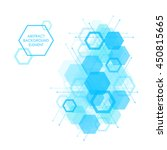 hexagon background design... | Shutterstock .eps vector #450815665