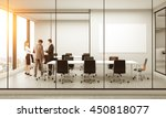 side view of conference room...   Shutterstock . vector #450818077