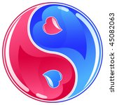 yin yang symbol vector... | Shutterstock .eps vector #45082063