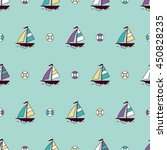 seamless pattern with color... | Shutterstock .eps vector #450828235