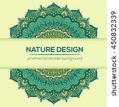 vector mandala decor for your... | Shutterstock .eps vector #450832339