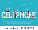 cellphone concept illustration... | Shutterstock .eps vector #450838651