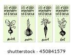 hand drawn ink vegetables... | Shutterstock .eps vector #450841579