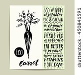 hand drawn vegetable label with ... | Shutterstock .eps vector #450841591