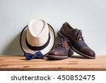 men's accessories with brown... | Shutterstock . vector #450852475