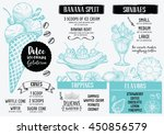ice cream menu placemat food... | Shutterstock .eps vector #450856579