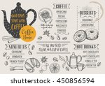 coffee restaurant brochure... | Shutterstock .eps vector #450856594