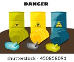 waste products flow from the... | Shutterstock .eps vector #450858091