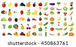 Set Of Fruits And Vegetables.