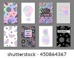 creative bright summer... | Shutterstock .eps vector #450864367