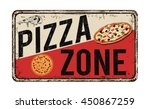 pizza zone vintage rusty metal... | Shutterstock .eps vector #450867259
