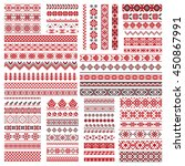 big set of traditional... | Shutterstock .eps vector #450867991