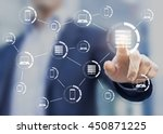 technology of internet with... | Shutterstock . vector #450871225