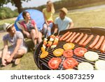 hungry friends waiting for... | Shutterstock . vector #450873259