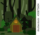 the house in the woods in a...
