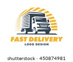 logo delivery service concept. | Shutterstock .eps vector #450874981