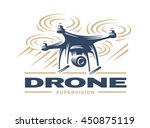 drone quadrocopter logo design  ...