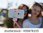 Two Happy Young Girls Taking A...