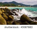 stones tropical beach. phi phi... | Shutterstock . vector #45087883