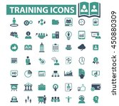 training icons | Shutterstock .eps vector #450880309